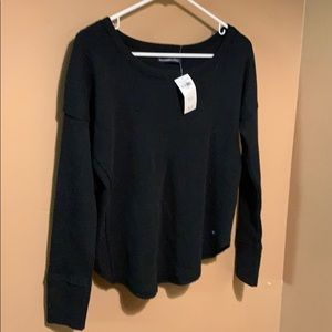 NWT Abercrombie&Fitch black waffle shirt.